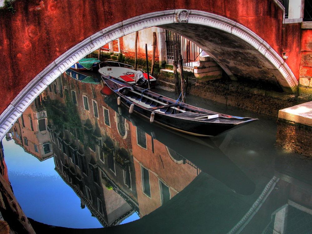 Обои для рабочего стола Венецианская гондола