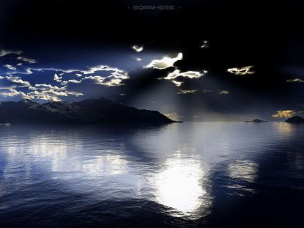 Обои Черное небо над морем (somwhere)