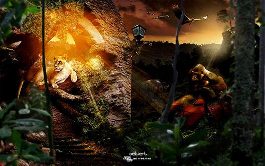 Обои Время, когда на земле снова наступит царство животных... (oeluert free style)