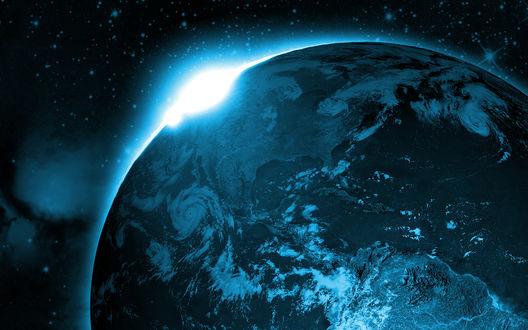 Обои Земля, вид из космоса