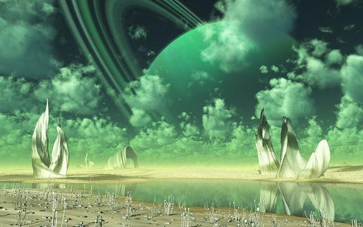 Обои Чужая планета с необычной природой