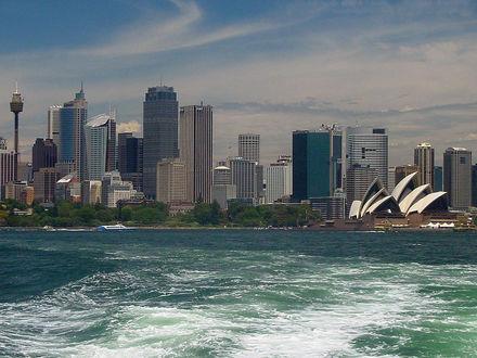 Обои Австралия... Вид на г.Сидней с океана...