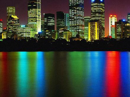 Обои Австралия... Огни ночного Сиднея...