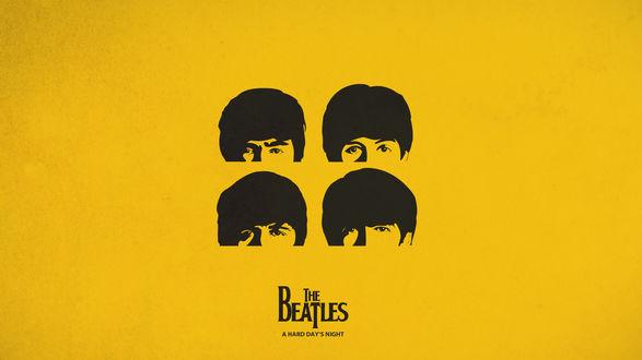 Обои Великолепная четверка (The Beatles a hard day's nigt)
