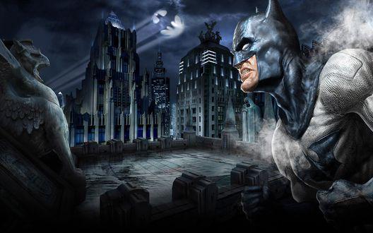 Обои Бэтмен готов сражаться со злом