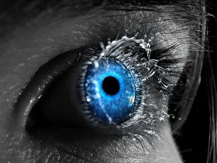 Обои Голубой глаз