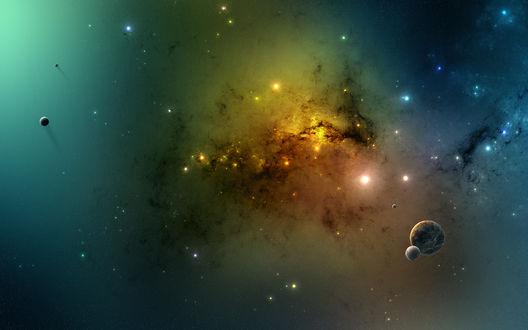 Обои Космическая туманность, звездная пыль