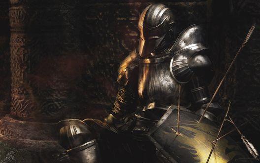 Обои Рыцарь в доспехах из игры Dark Souls / Темные души