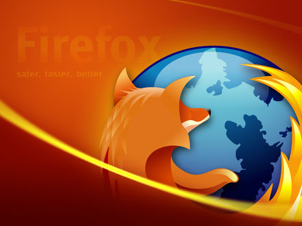 Обои Firefox  safe, faster, better