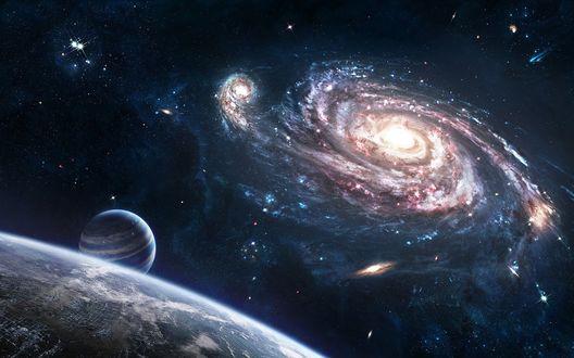 Обои Галактика и планеты