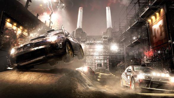 Обои Настоящие гонки, ночь, бездорожье, заброшенный завод и рёв толпы (Need for Speed)