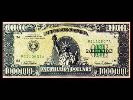 Обои Купюра в 1 миллион долларов