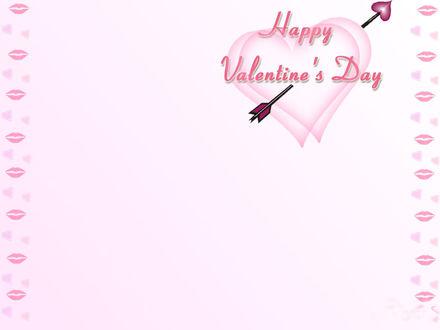Обои Сердца, пронзённые стрелой Амура... (Happy Valentine's Day.)