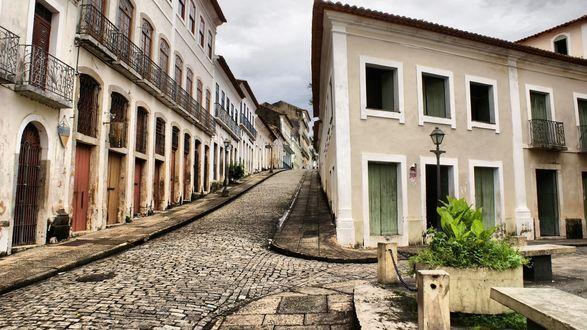 Обои улица старого города