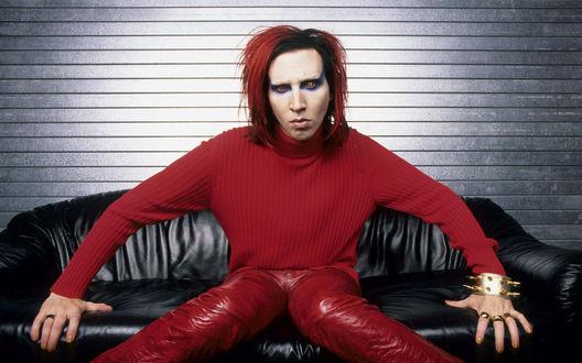 Обои Marilyn Manson в эпоху альбома Mechanical Animals
