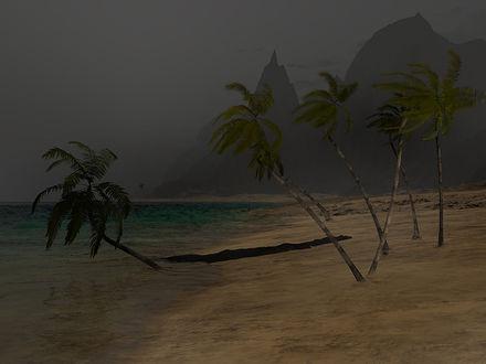 Обои Шторм на райском пляже