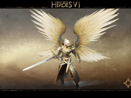 Обои Архангел из компьютерной игры - Герои меча и магии 6 (Heroes of might & magic 6)