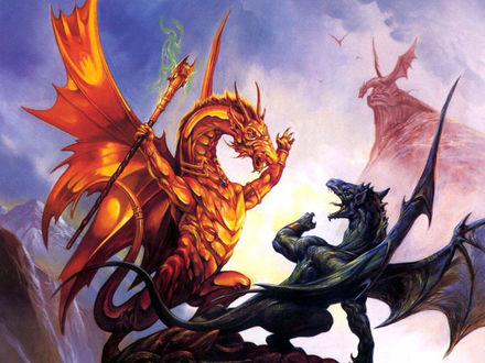 Обои Битва драконов