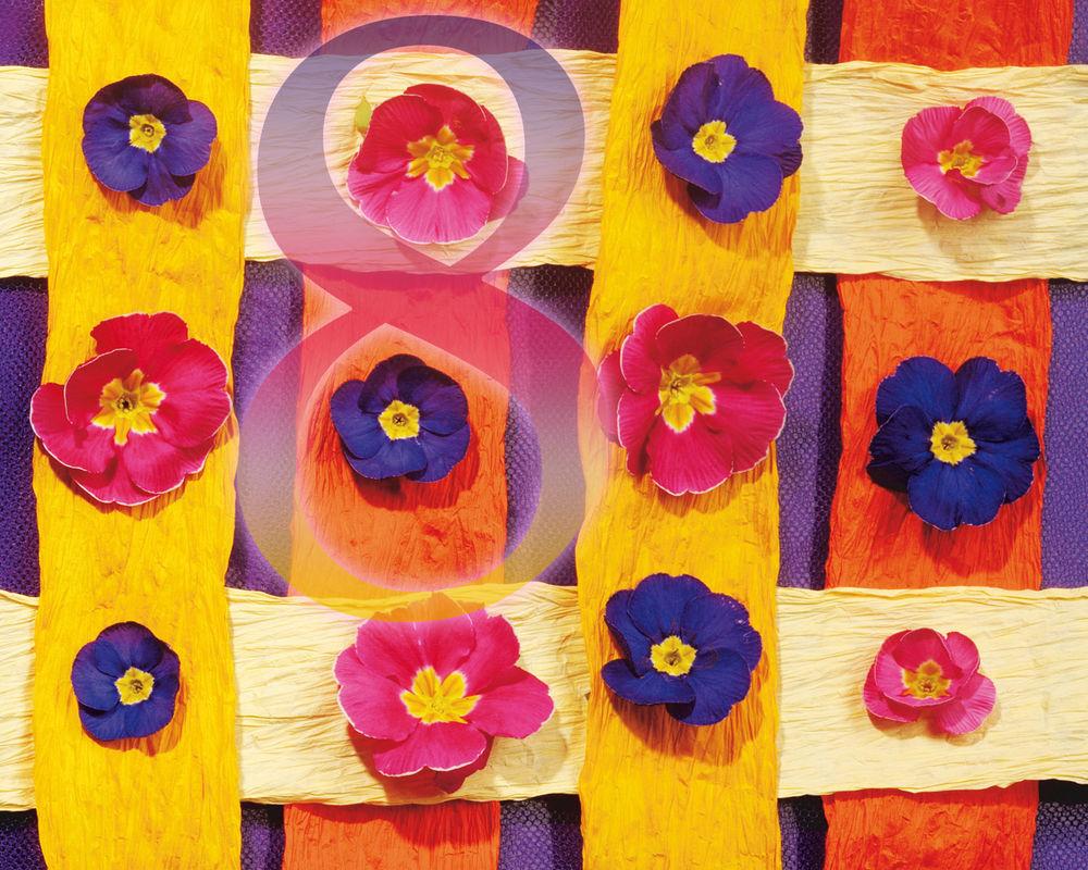Обои для рабочего стола Цветочный переплёт (8)
