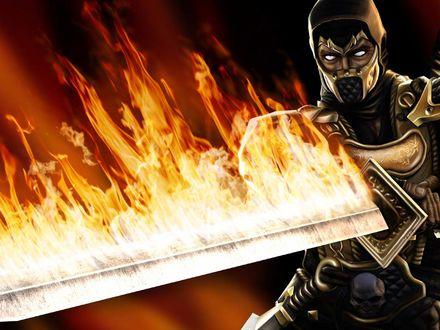 Обои Mortal Kombat - Scorpion