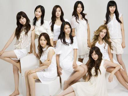 Обои Корейская группа Girls Generation` SNSD
