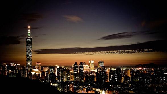 Обои Ночной город