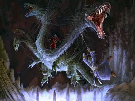 Обои Попытка обуздать четырёхглавого дракона