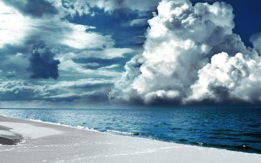 Обои Плохая погода на берегах Крита