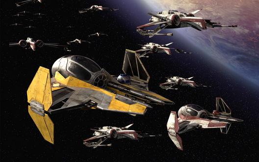 Обои Космический флот готов к бою
