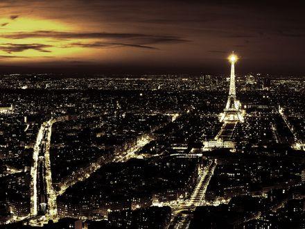 Обои Ночной Париж