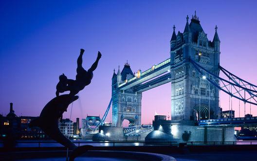 Обои Tower Bridge (London). Мост Тауер Бридж в Лондоне (Великобритания)