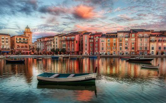 Обои Тихое утро в Венеции (Италия).