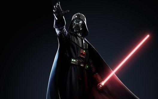 Обои Дарт Вейдер с лазерным мечом(Звёздные войны)