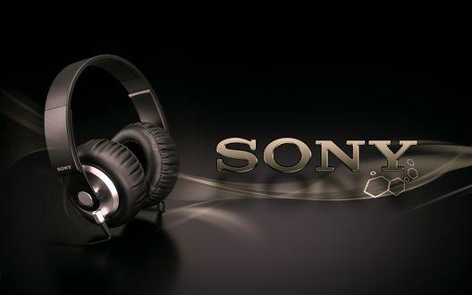 Обои Наушники фирмы Сони/Sony (Sony)