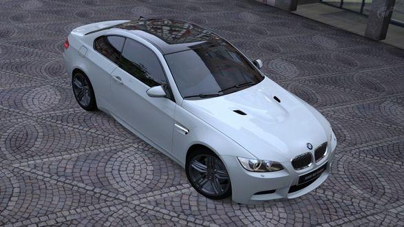 Обои Белый автомобиль BMW M3 Coupe