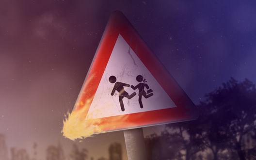 Обои Дорожный знак
