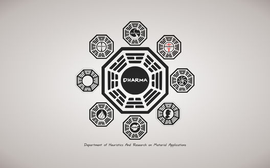 Обои LOST, Остаться в живых, Dharma знаки Department of Heurists and Research of Material Applications