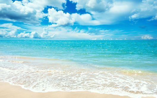 Обои Голубое море и небо