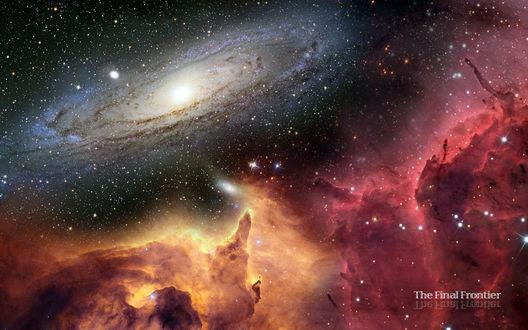 Обои Туманная галактика The Final Frontier/Последняя грань