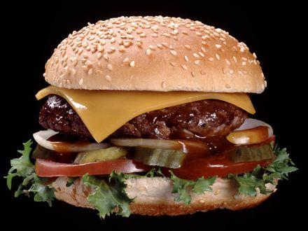 Обои Аппетитный гамбургер