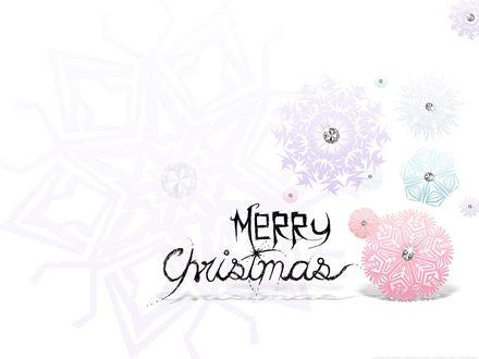 Обои Гламурные снежинки (Merry Christmas)