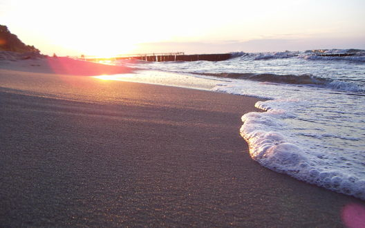 Обои Рассвет на пляже