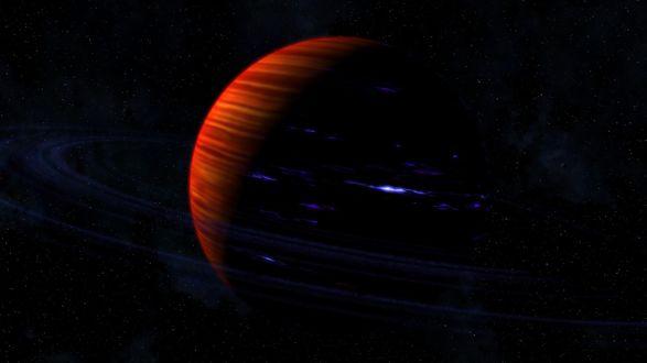 Обои Юпитер со светящимися полосками