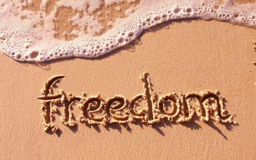Обои Freedom (свобода). Море. Пляж