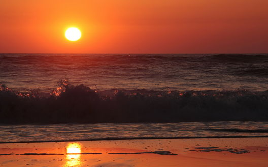 Обои Море в закате солнца