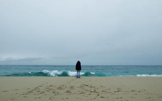 Обои Девушка у моря