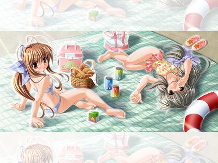 Обои Furukawa sanae и ibuki fuuko, аниме 'clannad'