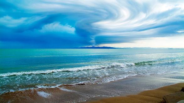 Обои Красивый берег океана