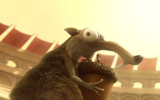 Обои Белка с желудем, мультфильм 'Ледниковый период' / 'Ice Age'