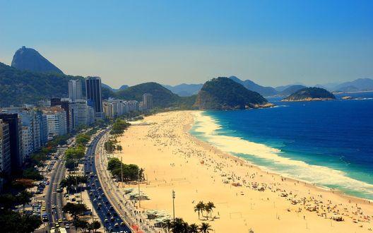 Обои Пляж в Рио Де Жанейро / Rio De Janeiro Бразилия